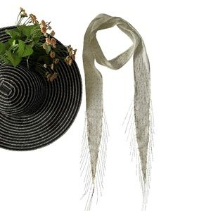 NWT! Super Skinny Scarf with Metal Fringe